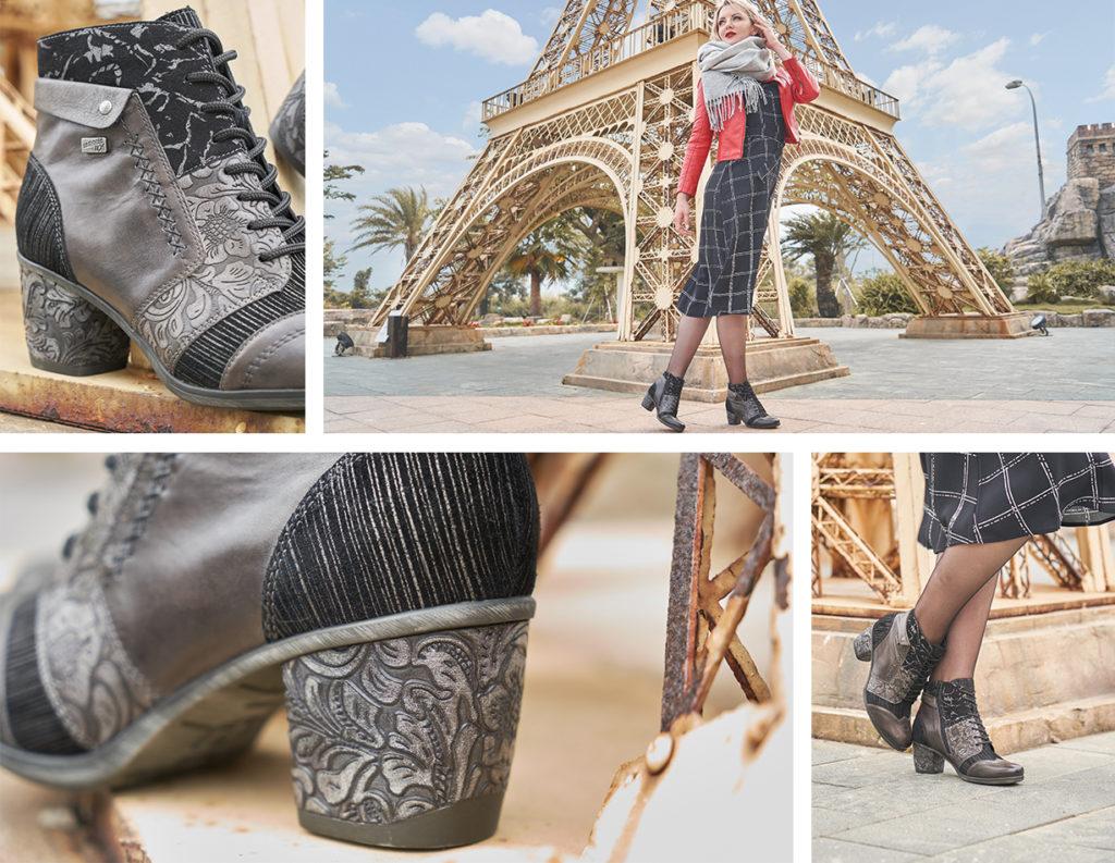 Remonte Stiefeletten D5470-45 mit Fancy Heels