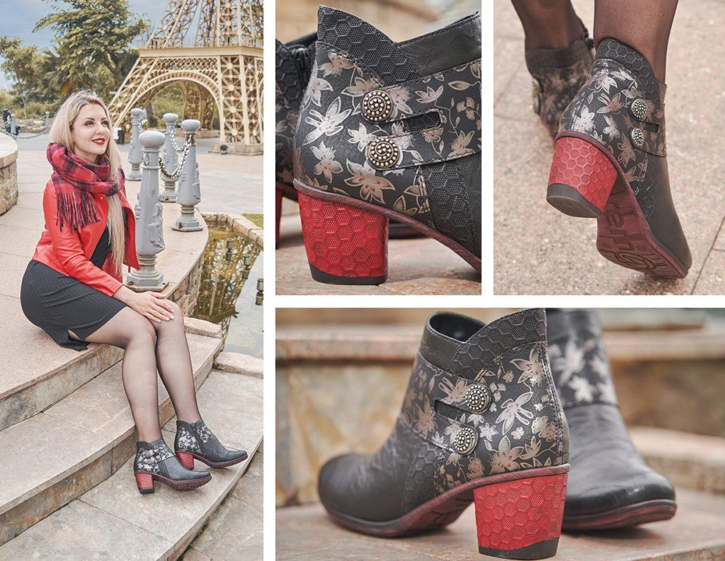Remonte Stiefeletten D5472-01 mit Fancy Heels
