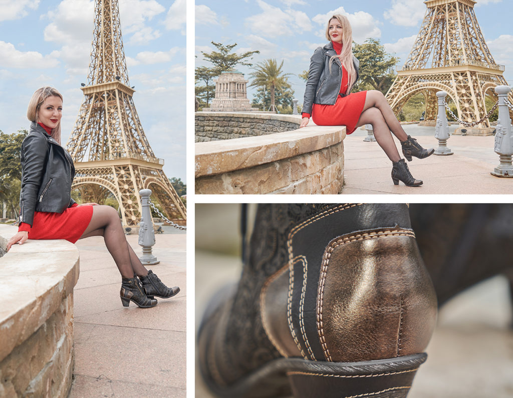 Remonte Stiefeletten D8794-02 mit Fancy Heels